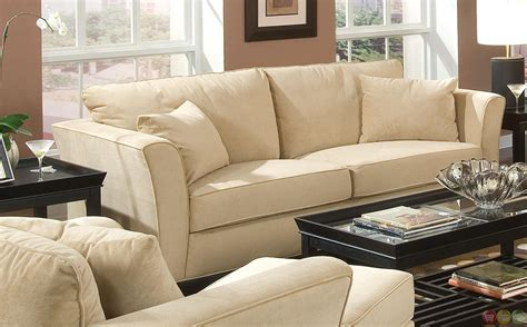 Park Place Velvet Upholstered Living Room Furniture Set | park place contemporary cream velvet upholstered living