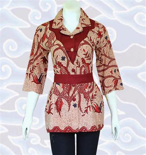 model atasan online jual baju atasan blus batik wanita modern model terbaru online
