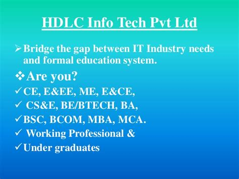 Benefit Of Mba After Bcom by Presentation Hdlc Courses F Pp