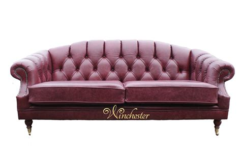 traditional settee victoria 3 seater chesterfield leather sofa settee old