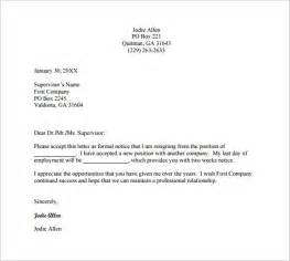 Letters To Staff Templates by 13 Employee Resignation Letter Templates Free Sle