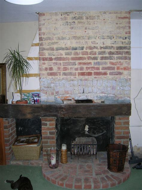 brick fireplace restoration bricklaying job in horsham