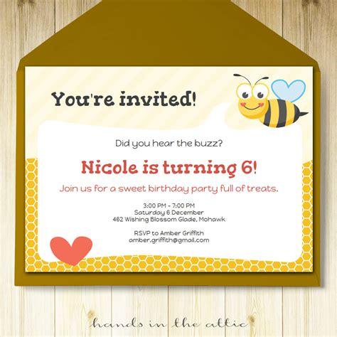 card bee template bumble bee invitation printable template
