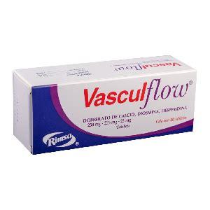 vasculflow 1 caja 20 tabletas 225 mg 25 miligramos byprice