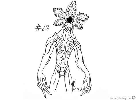 Coloring Pages Of Things by Things Coloring Pages Inktober Demogorgon By