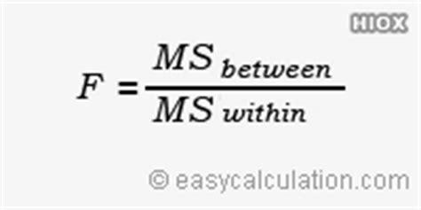 one way anova matrix formula data analysis