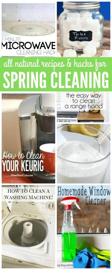 spring cleaning hacks all natural recipes and hacks for spring cleaning tip and