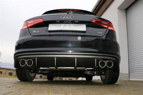 Auspuff Audi A3 by Exhaust Silencer Audi A3 8v 4x90mm