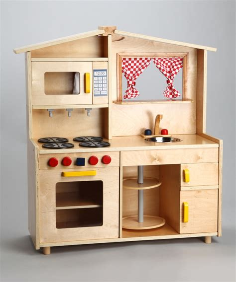 Handmade Wooden Play Kitchen - custom wood deluxe play kitchen