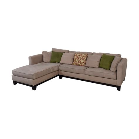 Macys Sectional by 76 Macy S Macy S Microfiber Taupe Sectional Sofa