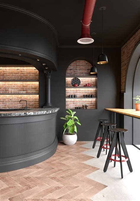 modern classic cafe  behance