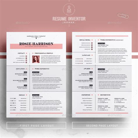 modern resume ms word apple pages cv template