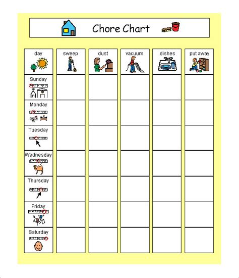 family schedule templates 12 free word excel pdf