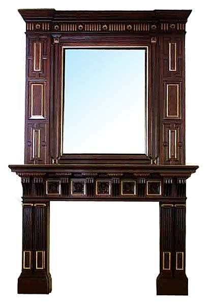 Mirrors Fireplace Mantels by Spectacular Antique Mahogany Fireplace Mantel