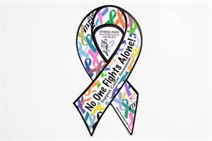 all cancer ribbon color no one fights alone 174 car magnets choose