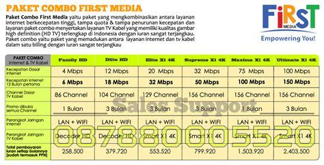 Paket Wifi Media dan tv kabel media promo media
