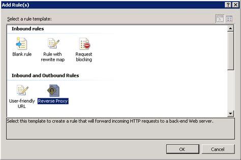 Reverse Proxy Rule Template Microsoft Docs Template Url