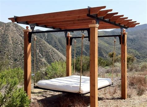 pergola swing bed 17 best images about gazebos and pergolas on pinterest