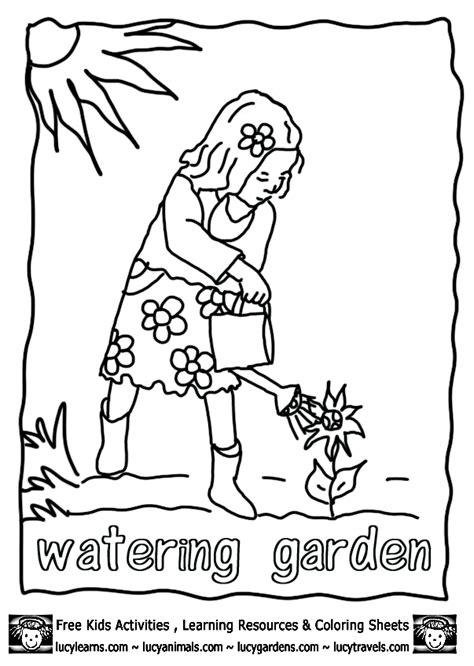 garden coloring pages for preschool preschool coloring pages gardening kids coloring page