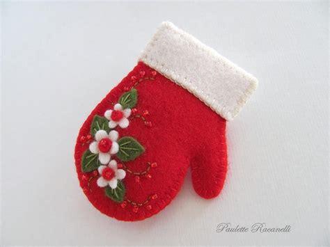 patterns christmas felt christmas red felt mitten template stuffed toy pattern