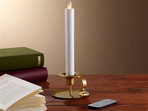 Led Kerzenhalter by Britesta Led Stabkerze Mit Goldenem Kerzenhalter