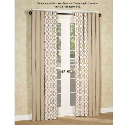 trellis design curtains trellis thermalogictm insulated room darkening grommet