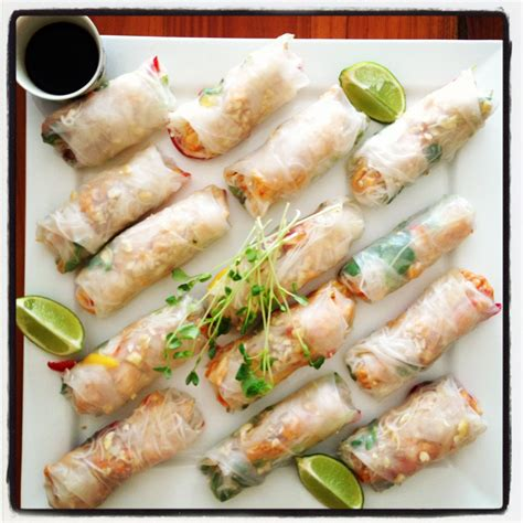 Rice Paper Rolls - how to make rice paper rolls inspired mood
