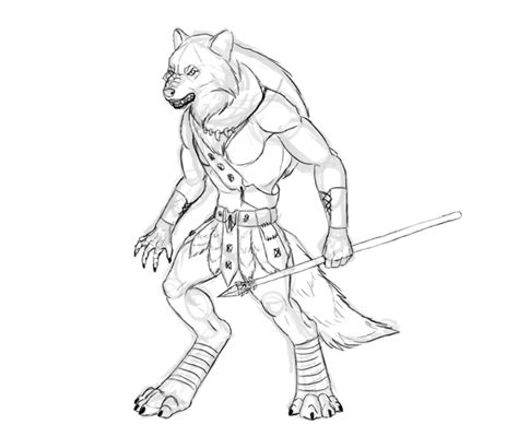 tutorial task werewolf design a model sheet of a werewolf warrior in adobe