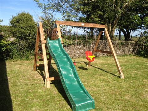outdoor swings and slides heavy duty deacon swing slide set by sttswings