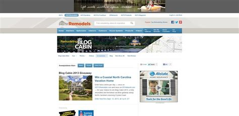 Hgtvremodels Sweepstakes - blog cabin sweepstakes