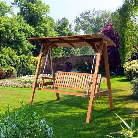 garden swing wooden garden swings the enchanting element in your backyard