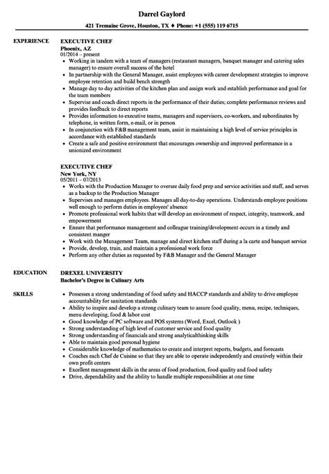 resume sle executives sous chef 16920 chef resume template exelent chef resumes