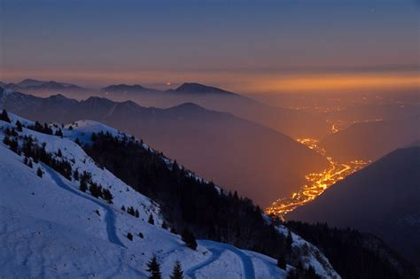 valley of lights val trompia in the province of brescia