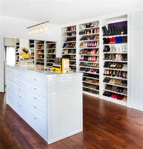 there s a whole universe of closet space hidden under this bed curbed slanted shoe shelves with stylist room closet contemporary