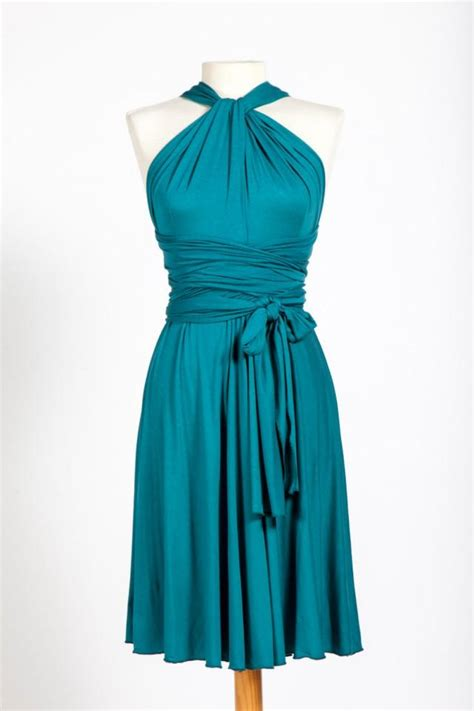 Dress Anak 1 3 T turquoise infinity dresses knee length bridesmaid dresses infinity dresses wrap convertible