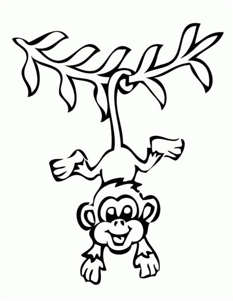 monkey coloring pages for preschool monkey coloring pages at the zoo children s ministry