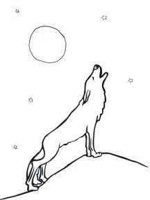 howling wolf coloring pages wolf howling at moon coloring page supercoloring