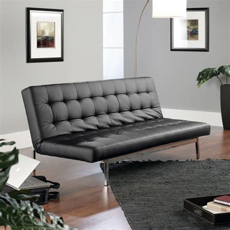 Sauder Futon by Sauder Studioedge Avenue Convertible Sofa Black Duraplush