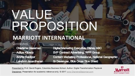 Marriot Mba Class Profile by Best In Class Presentation Value Proposition Development
