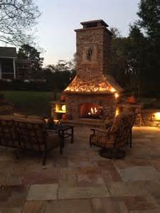 custom built outdoor fireplace patios outdoor living
