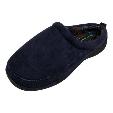 wide mens slippers mens dunlop luxury wide fitting mule slipper mules gents