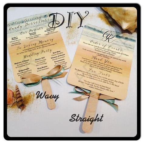 wedding program fans kit diy kit for paddle fan wedding programs wedding programs