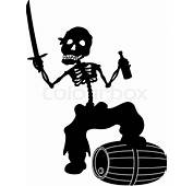 Jolly Roger Pirate  Zombie Skeleton With A Saber