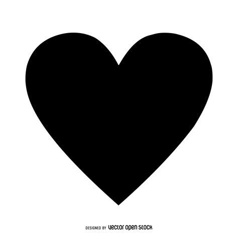 imagenes corazon en negro coraz 243 n aislado negro descargar vector
