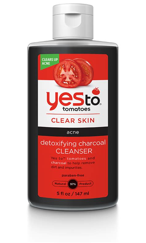 Can Detox Cause Acne by Yes To Tomatoes Detoxifying Charcoal Cleanser