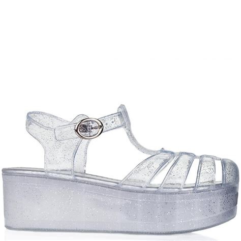 clear shoes buy hawaii wedge heel buckle platform flatform jelly