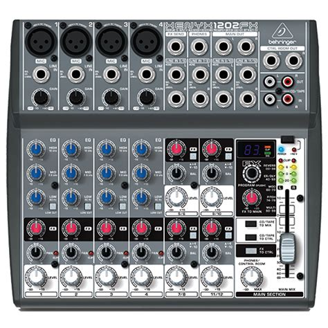Mixer Behringer 1202fx behringer xenyx 1202fx pa mixer with fx 12 channel dj city