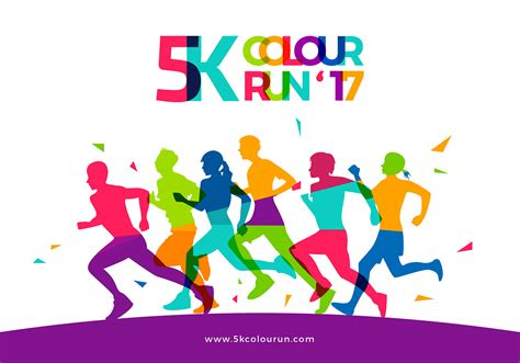 5k Color Run Template Free Vector Download Free Vector Art Stock Graphics Images Color Run Flyer Template