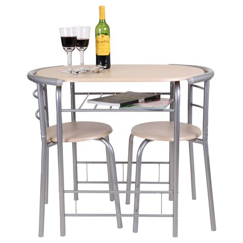 Chicago 3 Piece Dining Table And 2 Chair Set Breakfast Table And Chair Sets For Kitchen