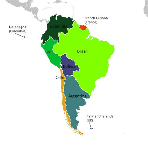 south america map labeled labeled south america map clipart best